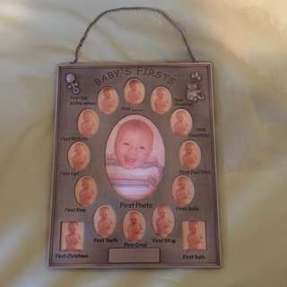 Babies First Photo Frame