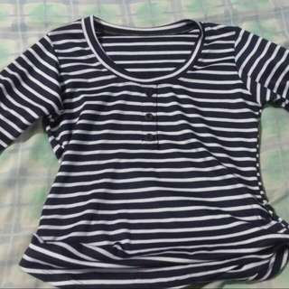 Stripped Shirt 3/4 Sleeves