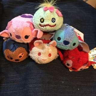 日本disneystore購入 正版tsum公仔 夏威夷花花頭飾Stitch系列