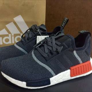NMD R1 grey/white/red US8 UK7.5!