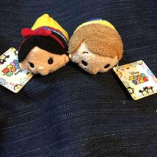 日本disneystore購入 正版tsum公仔 白雪公主 王子