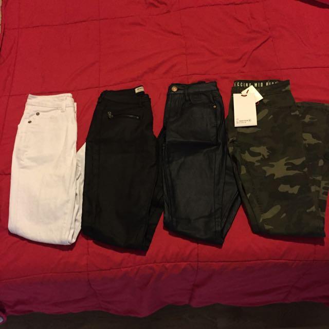 4 Pairs Skinny Jeans 3 Brand New