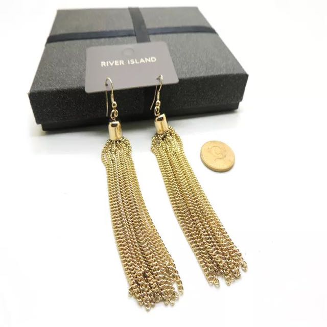 歐美女神時尚奢華高端簡約流蘇耳環