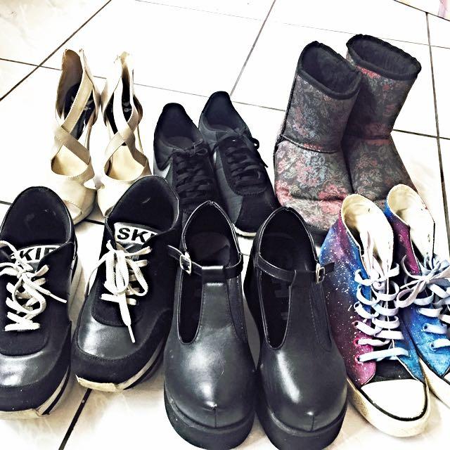 二手鞋出清大特賣(可私細圖)