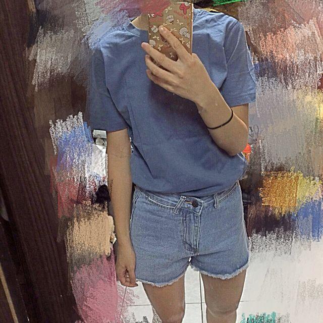 藍色 上衣 短袖