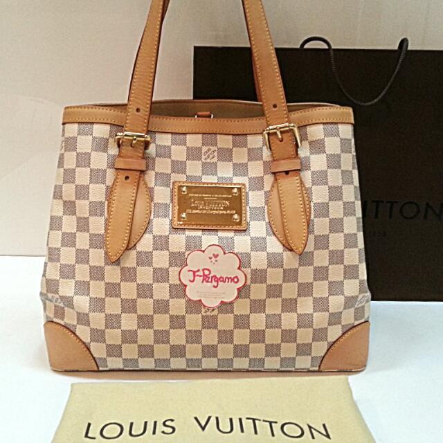c9e0972bb65 Authentic Louis Vuitton Monogram Azur Hampstead MM    Only For Sale ...