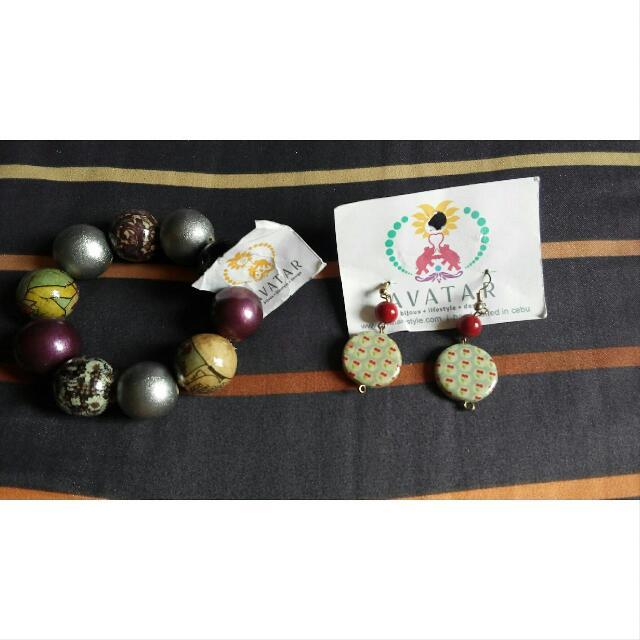 Avatar Earrings And Bracelet