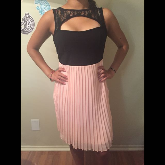 Black And Pink Dress