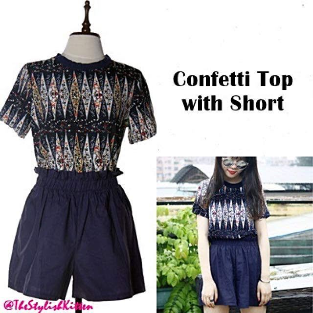 Confetti Top with Short