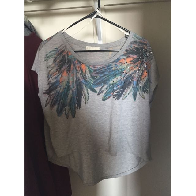 Cropped Front Tee