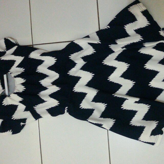 Dress Zigzag Blue White