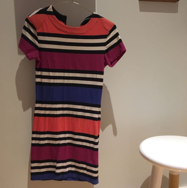 Fitted Stripe Mini Dress