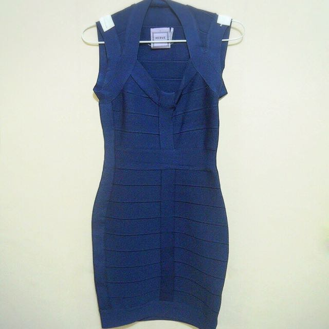Herve Leger Dress Dark Blue