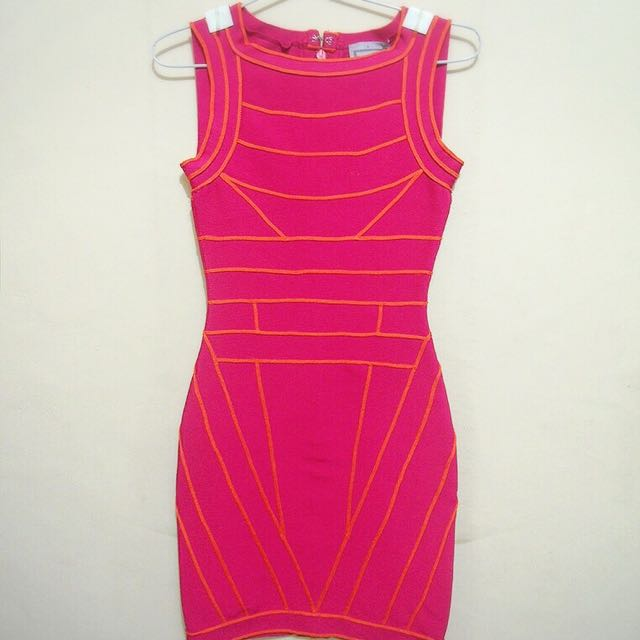 Herve Leger Dress Fuschia Pink