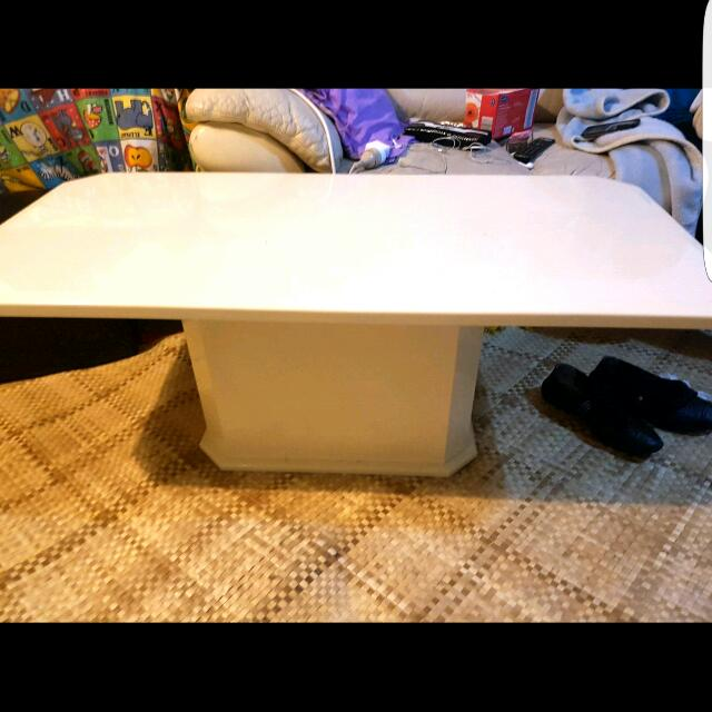 Large Cream Coffee Table