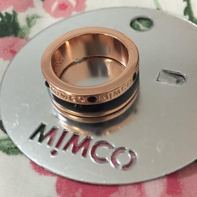 Mimco Ring (Black/Rosegold) - large