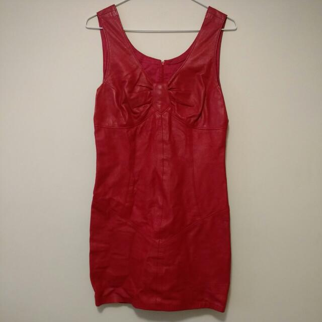 Must Have Red Leather Dress