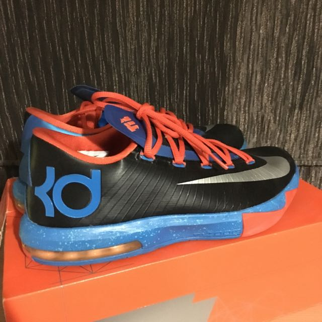 Nike KD 6 VI Thunder Away Black Photo Blue Orange