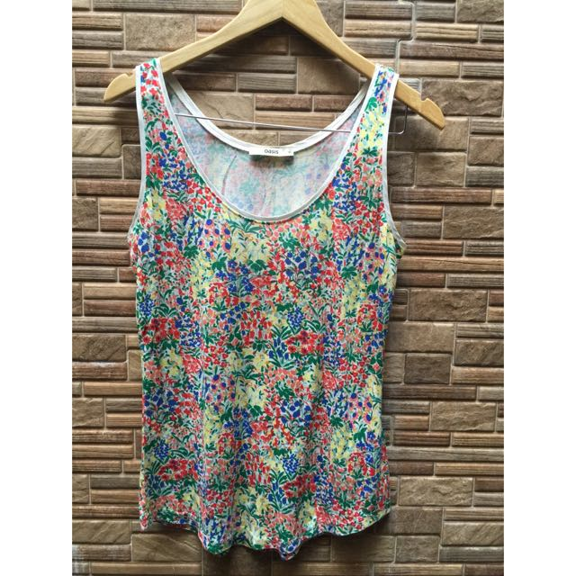 Oasis Floral Sleeveless Shirt