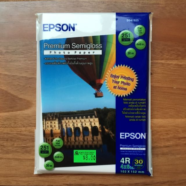 Photo Paper Epson 4R (30 Sheets)