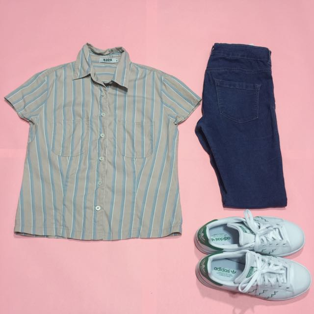 Pink Striped Polo