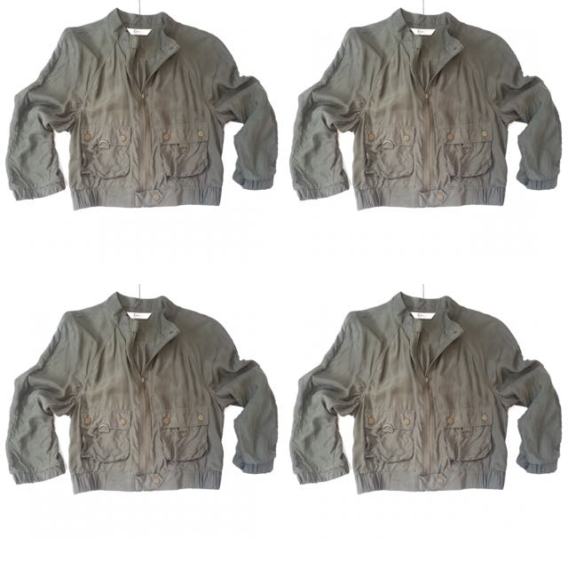 Portman's Silk Crop Bomber Jacket