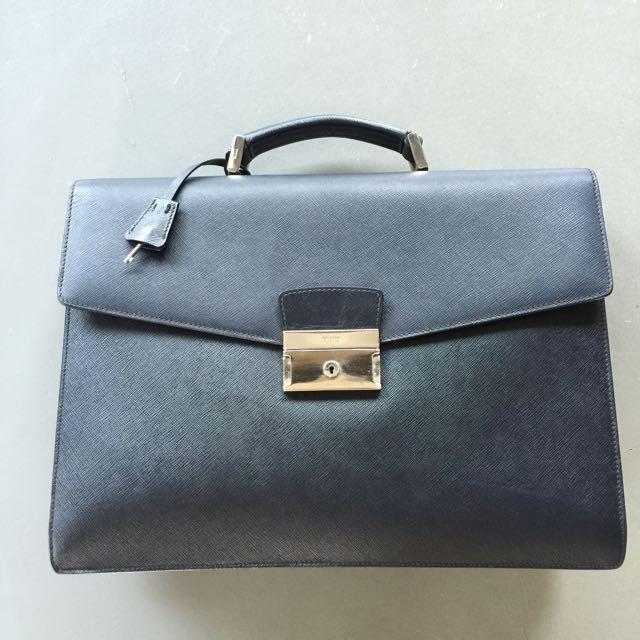 Prada Saffiano Briefcase 經典牛皮公事包