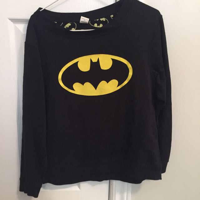 reversible batman crew neck