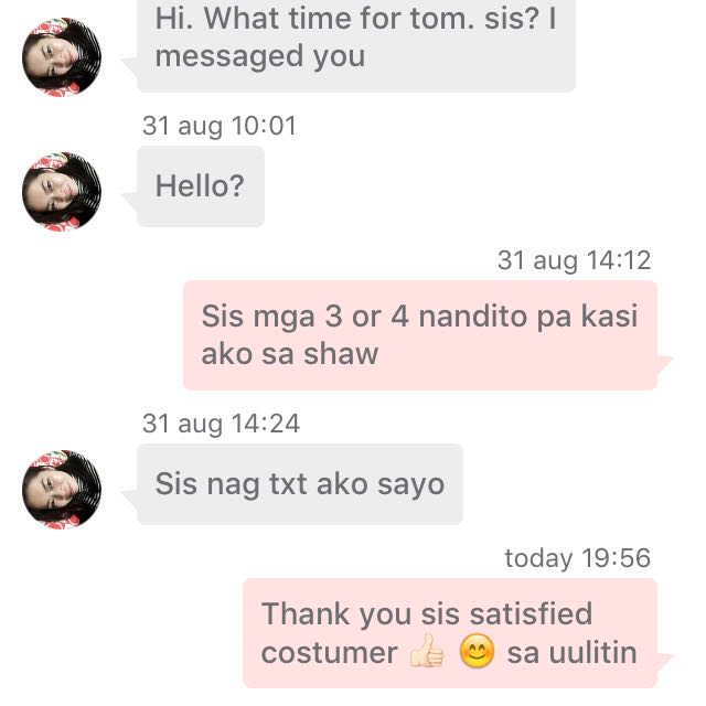 Thank You Sis Satisfied Costumer