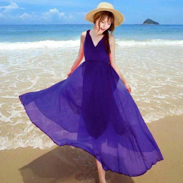 V-neck Elegant Long Dress