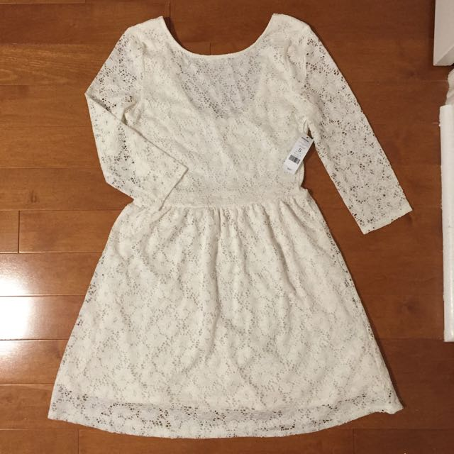 Garage White Lace Dress