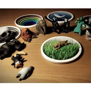 3D立體趣味杯墊/公仔展示架/驚喜小禮/吸水陶瓷/辦公室小物/設計原創/文創商品