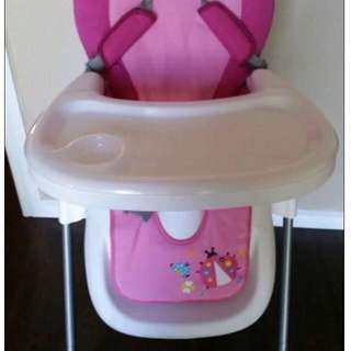 Pink Highchair w/ Removable Tray