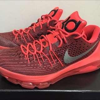 28cm-KD8赤紅籃球鞋 內有 各式鞋子 球衣 牛仔褲 外套