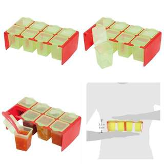 Clevamama ClevaPortions Freezer and Storage Pots, Red