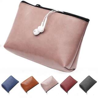 Laptop Charger Mouse Bag Genuine Microfibre Leather
