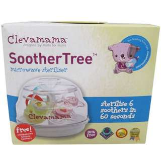 Clevamama Soother Tree 2 FREE Silicone Orthodontic Soothers