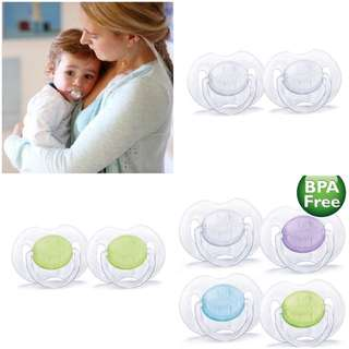 Philips Avent BPA Free Translucent Orthodontic Infant Pacifier, 0-6 Months