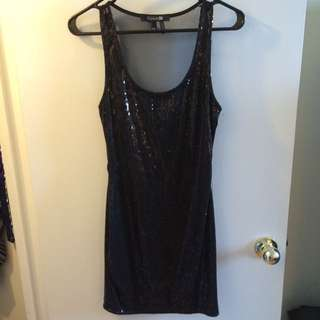 Black Sequin Dress (Forever 21)