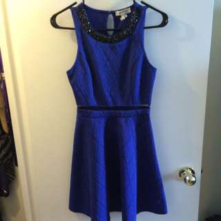 Blue Dress With Detailed Top