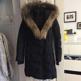Size XS Black Long Mackage Jacket