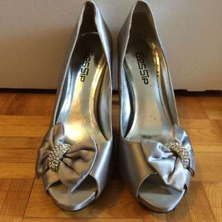 REDUCED! Silver Heels