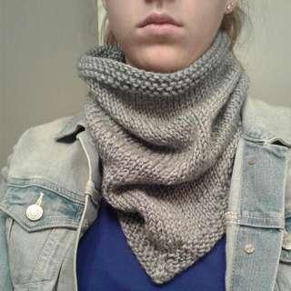 Hand Knit Bandana Cowl