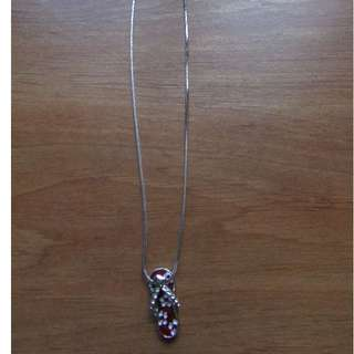 Brand New Sterling Silver Sandal Necklace