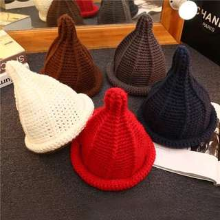 韓版尖頭毛帽