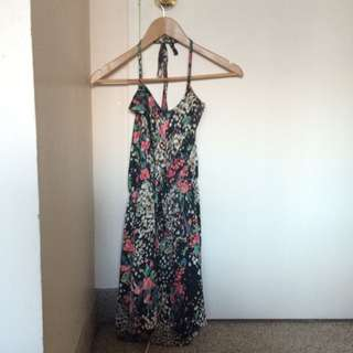 AA Silk Floral Sun Dress