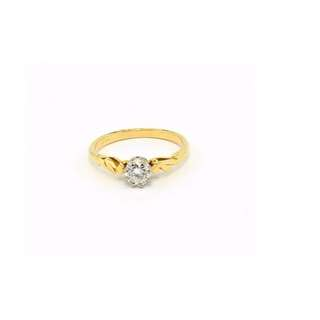 Genuine 18ct Yellow Gold 0.35ct Solitaire Diamond Ring with Valuation Certificate Valued AUD 1650