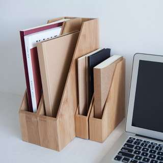 Books Documents Files Bamboo Wood Box Folder Storage Stand | A4 A5 A6