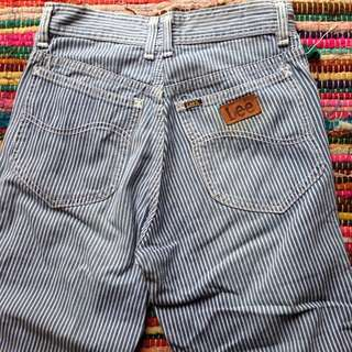 Stripe Flare Lee Jeans! High Waisted