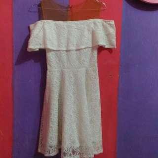 White Sabrina Dress